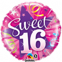 "Sweet 16 Hot Pink Foil Balloon (18"") 1pc"